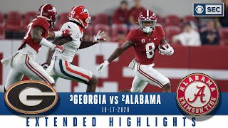 #3 Georgia Bulldogs vs. #2 Alabama Crimson Tide: Extended Highlights | CBS Sports HQ