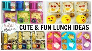CUTE and FUN LUNCHBOX Ideas   Bunches Of Lunches + What They Ate