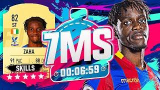 WILFRIED ZAHA!! 7 MINUTE SQUAD BUILDER VS AJ3!! - FIFA 19 ULTIMATE TEAM