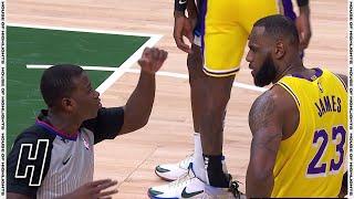 LeBron James Not Happy With Referee - Lakers vs Bucks | January 21, 2020-21 NBA Season
