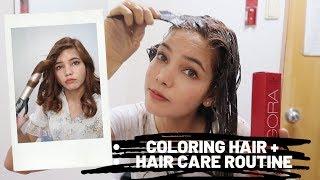 Coloring My Hair in Korea + Korean Hair Care Routine in Korea🇰🇷