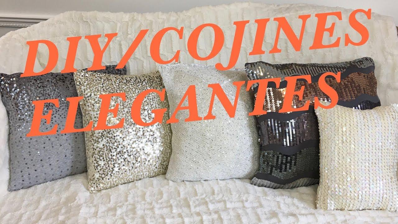 Diy Cojines.Diy Cojines Elegantes Reciclados Facil Y Economico