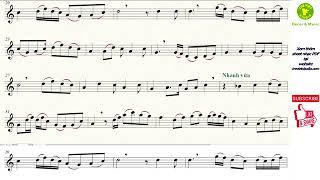 LƯU THỦY - KIM TIỀN - XUÂN PHONG - LONG HỔ ★ Sheet nhạc Beat | Sáo trúc C5 | Virtual Sheet Music