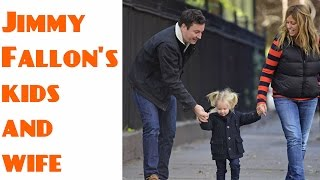 Jimmy Fallon's kids and wife 2017
