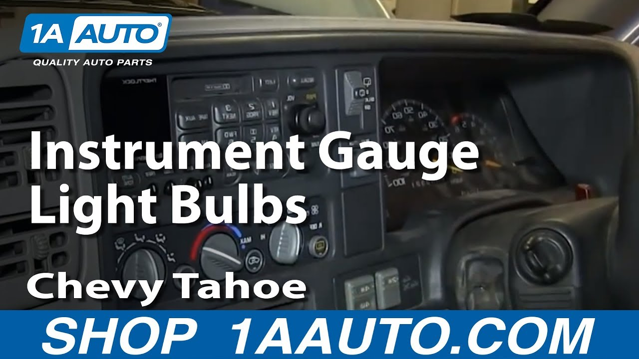 How To Service Replace Instrument Gauge Light Bulbs 1996