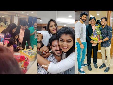Bigg Boss stars Shiva Jyothi, Ariyana, Ali Reza, Mehaboob attends actor Ali birthday celebrations, viral video