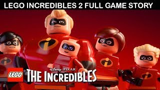 Lego The Incredibles 2 All Cutscenes (Game Movie) Full Story 1080p 60FPS