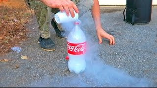 Don't Put Liquid Nitrogen into Plastic Bottle