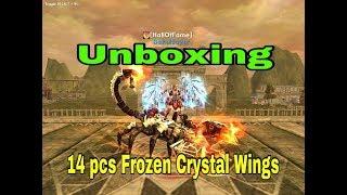 UNBOXING 14 Pcs Frozen Crystal Wings Random Box