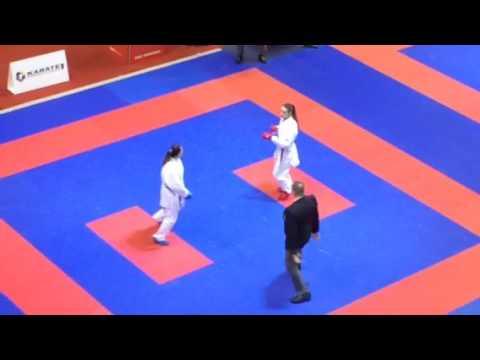 Premier League / Karate 1. Paris Open 2017. Stepashko Anastasia (Tiger Team) - Oparina Tatiana (Russia). 2-nd round