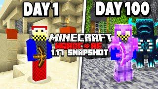 I survived 100 Days in 1.17 Minecraft Hardcore...