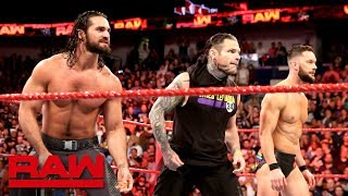 Jeff Hardy helps Seth Rollins and Finn Bálor push back The Miztourage: Raw, April 9, 2018
