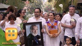 Don Fernando Luján recibió el último adiós con un emotivo ritual. ¡Aquí las imágenes!