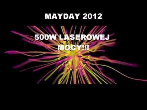 Pokaz laserowy MAYDAY Katowice 2012 LASERY INFO