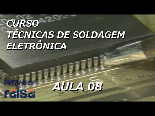 SOLDAGEM SMD POR CONTATO | Curso Soldagem Eletrônica #08