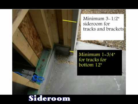 Measuring A New Opening For Garage Door Installation Youtube