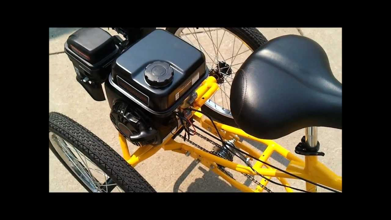 three wheel bike with 7 hp engine belize tri rider youtube. Black Bedroom Furniture Sets. Home Design Ideas