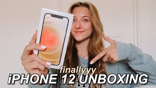iPHONE 12 UNBOXING & SET UP!!