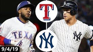 Texas Rangers vs. New York Yankees Highlights   September 4, 2019 (2019 MLB Season)