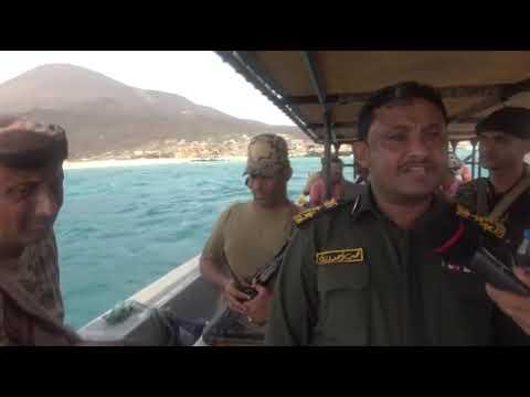 جولة تفقدية في جزر أرخبيل جنيش بالبحر الأحمر