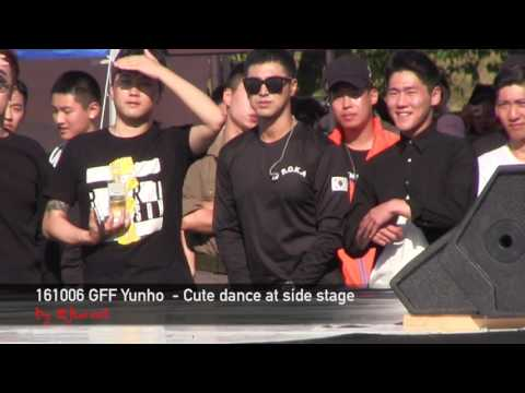 161006 GFF Yunho - Cute dance at side stage