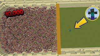 10.000 Aldeanos VS 1 Zombie Titan VS 1 Golem Titan - Minecraft arena(mob gigante/jefe final) Español