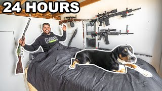 24 Hour SURVIVAL CHALLENGE in the DOOMSDAY SHELTER with PUPPY!!!