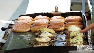 London Street Food. The Duck Meat Burger. French Cuisine