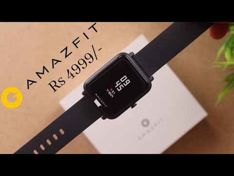 video Amazfit Bip S Smart Watch with Built -in GPS, 15-Day Battery Life, Always-on Display, 5 ATM Water Resistance (Warm Pink)
