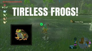 THE LEGEND OF ZELDA: BREATH OF THE WILD - THE BEST PLACE TO GET TIRELESS FROGS *COMPLETE GUIDE*