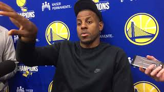 Andre Iguodala shares why he was yelling at his TV