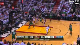 Rajon Rondo Every FG and Assist in the Conference Finals vs Miami Heat