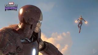 Captain Marvel & Iron man Fight - Thanos Marvel's Future Fight