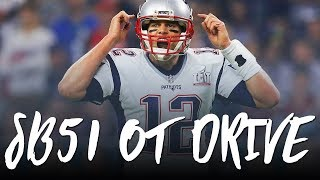 The New England Patriots Incredible Super Bowl 51 Winning Overtime Drive. HD