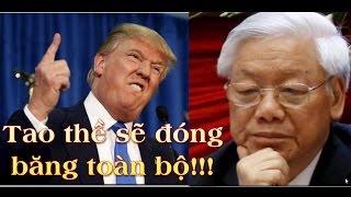 Donald Trump thề sẽ đóng băng tài sản của bè lũ Nguyễn Phú Trọng và cấm nhập cảnh vào Mỹ
