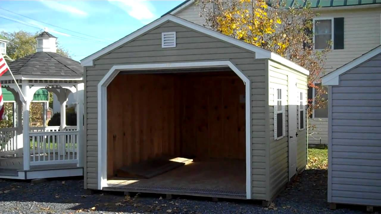 Vinyl Prefabricated Garages 12x16 Prefab Garage Amish