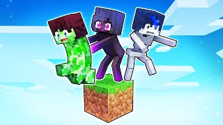 Playing As MOBS On ONE BLOCK In Minecraft!