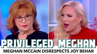 Privileged Meghan McCain Disrespects Joy Behar