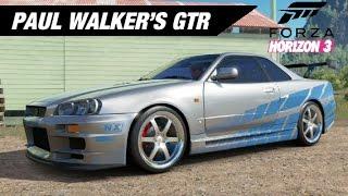 Paul Walker's Skyline GTR Build - Forza Horizon 3