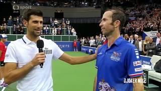 "Djokovic to Stepanek ""I LOVE YOU MAN"" - Prague 2018 (HD)"