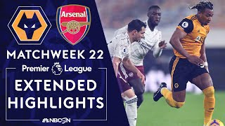 Wolves v. Arsenal | PREMIER LEAGUE HIGHLIGHTS | 2/2/2021 | NBC Sports