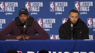 Steph Curry & Kevin Durant Postgame Interview - Game 6   Rockets vs Warriors   2018 NBA West Finals