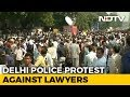 Delhi Cops Protest After Violent Clash With Lawyers At Court