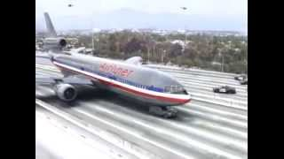 Plane Crash Landing On Highway