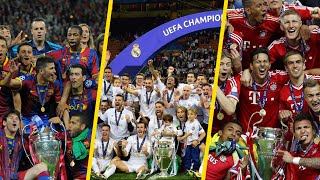 UEFA Champions League Winners List   II 1956  ▶  2016 II