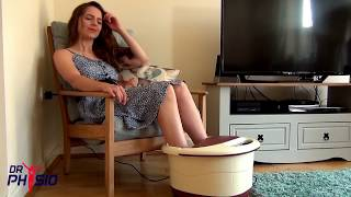 Dr Physio Foot Spa massager with Auto Rollers and Infrared lights - Pedicure at home