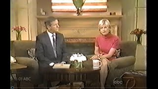 Good Morning America 9-11-01 - ABC Network Live as Tragedy Occurred