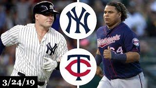 New York Yankees vs Minnesota Twins Highlights | March 24, 2019 | Spring Training