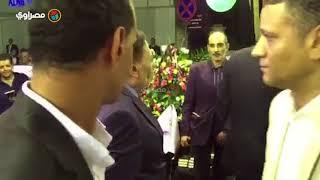 الزعيم عادل إمام في عزاء رفعت السعيد     -