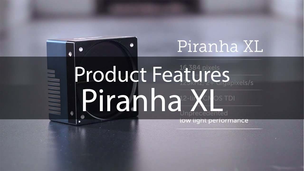 Introducing the machine vision line scan camera Piranha XL from Teledyne DALSA